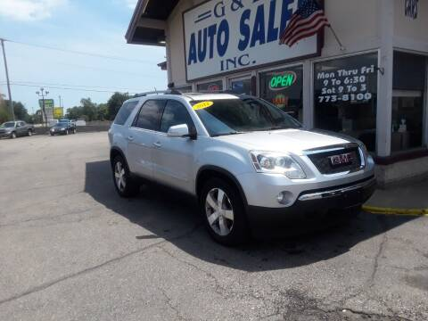2012 GMC Acadia for sale at G & L Auto Sales Inc in Roseville MI