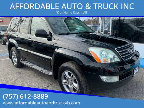 2009 Lexus GX 470 for sale at AFFORDABLE AUTO & TRUCK INC in Virginia Beach VA