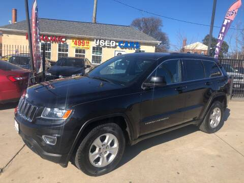2015 Jeep Grand Cherokee for sale at DYNAMIC CARS in Baltimore MD