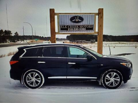 2015 Infiniti QX60 for sale at Elk Creek Motors LLC in Park Rapids MN
