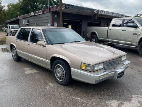 1990 Cadillac DeVille for sale at Texas Luxury Auto in Houston TX