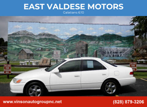 2001 Toyota Camry for sale at EAST VALDESE MOTORS in Valdese NC