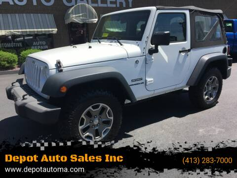 2012 Jeep Wrangler for sale at Depot Auto Sales Inc in Palmer MA