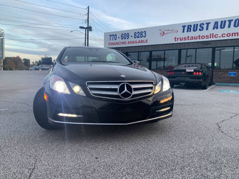2012 Mercedes-Benz E-Class for sale at Trust Autos, LLC in Decatur GA