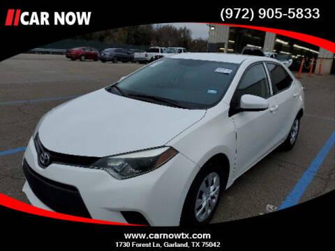 2014 Toyota Corolla for sale at Car Now Dallas in Dallas TX