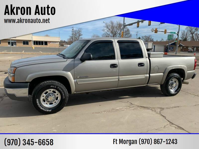 2003 Chevrolet Silverado 1500HD for sale at Akron Auto in Akron CO