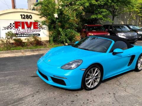 2017 Porsche 718 Boxster for sale at Five Brothers Auto Sales in Roswell GA