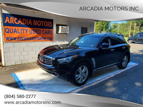 2012 Infiniti FX35 for sale at ARCADIA MOTORS INC in Heathsville VA