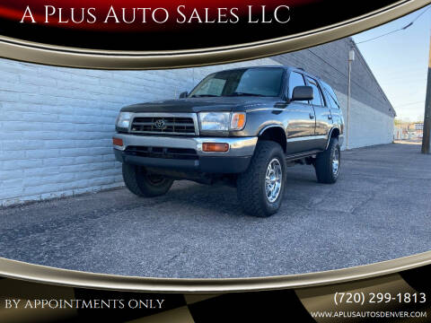 1998 Toyota 4Runner for sale at A Plus Auto Sales LLC in Denver CO