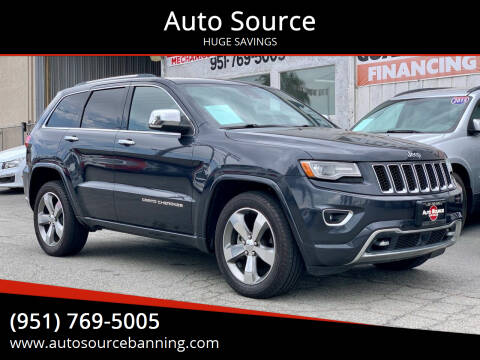 2014 Jeep Grand Cherokee for sale at Auto Source in Banning CA