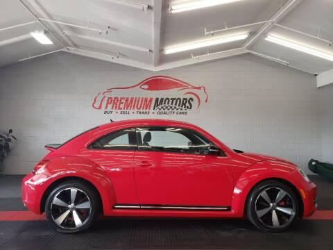 2013 Volkswagen Beetle for sale at Premium Motors in Villa Park IL