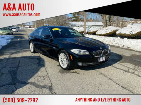 2011 BMW 5 Series for sale at A&A AUTO in Fairhaven MA
