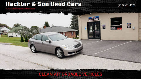 2009 Infiniti G37 Sedan for sale at Hackler & Son Used Cars in Red Lion PA