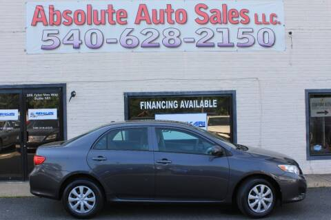 2010 Toyota Corolla for sale at Absolute Auto Sales in Fredericksburg VA