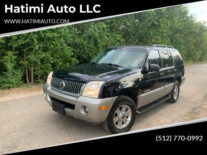 2002 Mercury Mountaineer for sale at Hatimi Auto LLC in Buda TX