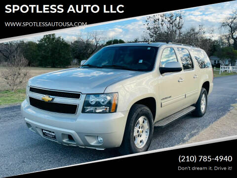 2014 Chevrolet Suburban for sale at SPOTLESS AUTO LLC in San Antonio TX