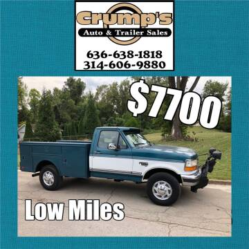 1995 Ford F-250 for sale at CRUMP'S AUTO & TRAILER SALES in Crystal City MO