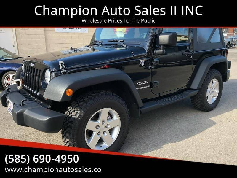 2011 Jeep Wrangler for sale at Champion Auto Sales II INC in Rochester NY