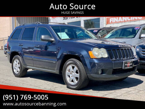 2008 Jeep Grand Cherokee for sale at Auto Source in Banning CA