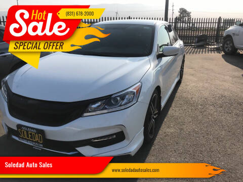 2017 Honda Accord for sale at Soledad Auto Sales in Soledad CA