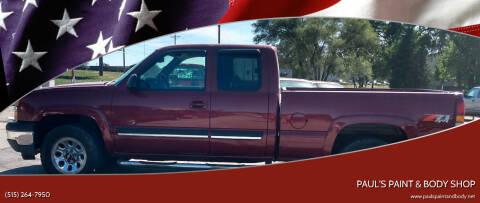 2005 Chevrolet Silverado 1500 for sale at PAUL'S PAINT & BODY SHOP in Des Moines IA