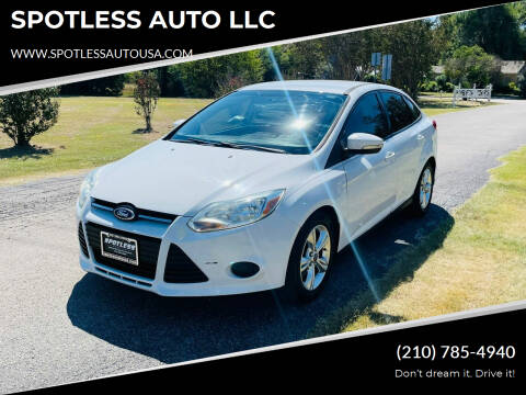 2014 Ford Focus for sale at SPOTLESS AUTO LLC in San Antonio TX