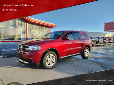 2013 Dodge Durango for sale at Johnson's Auto Sales Inc. in Decatur IN