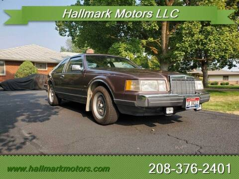 1988 Lincoln Mark VII for sale at HALLMARK MOTORS LLC in Boise ID