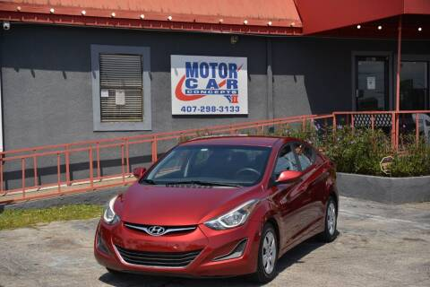 2016 Hyundai Elantra for sale at Motor Car Concepts II - Kirkman Location in Orlando FL