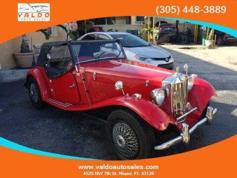 1980 MG MGTD for sale at VALDO AUTO SALES in Miami FL