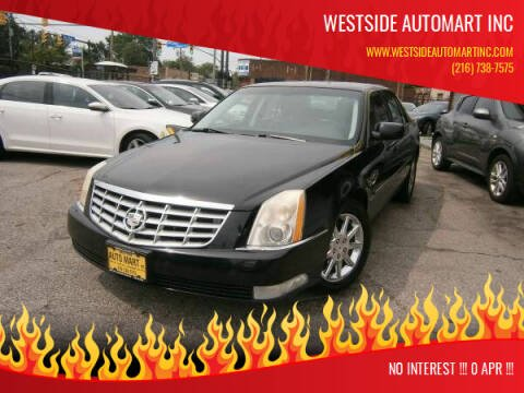 2010 Cadillac DTS for sale at WESTSIDE AUTOMART INC in Cleveland OH