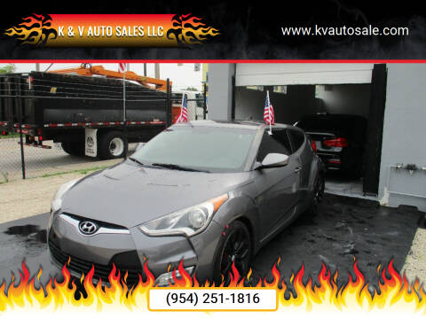 2013 Hyundai Veloster for sale at K & V AUTO SALES LLC in Hollywood FL