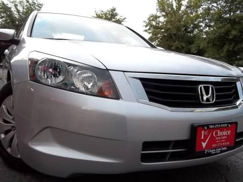 2009 Honda Accord for sale at 1st Choice Auto Sales in Fairfax VA