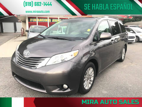 2012 Toyota Sienna for sale at Mira Auto Sales in Raleigh NC