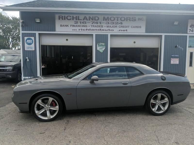 2018 Dodge Challenger for sale at Richland Motors in Cleveland OH