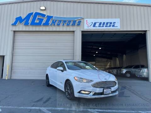 2018 Ford Fusion Hybrid for sale at MGI Motors in Sacramento CA
