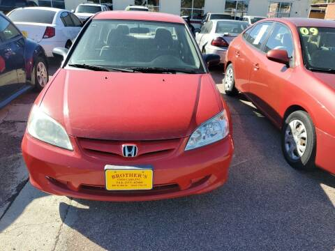 2005 Honda Civic for sale at Brothers Used Cars Inc in Sioux City IA