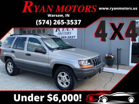2001 Jeep Grand Cherokee for sale at Ryan Motors LLC in Warsaw IN