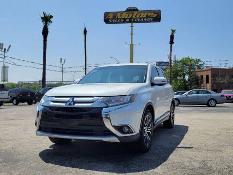 2016 Mitsubishi Outlander for sale at A MOTORS SALES AND FINANCE in San Antonio TX