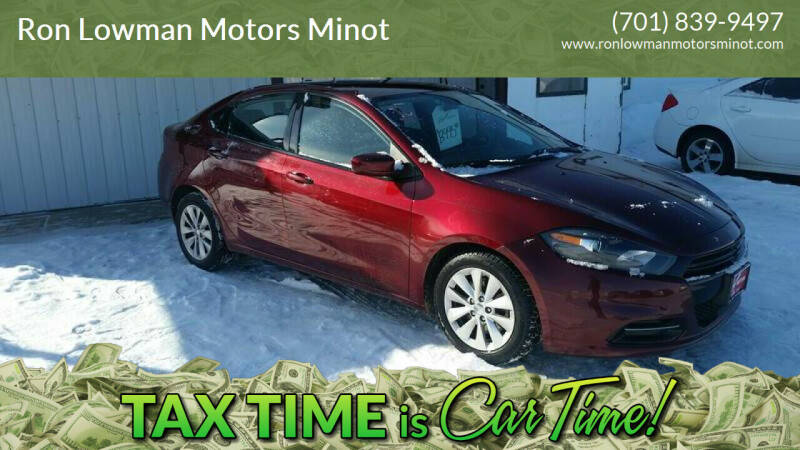 2015 Dodge Dart for sale at Ron Lowman Motors Minot in Minot ND