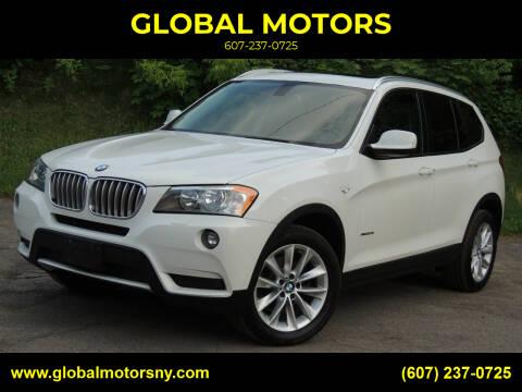 2014 BMW X3 for sale at GLOBAL MOTORS in Binghamton NY