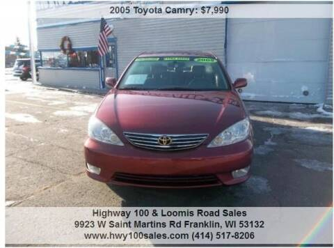 2005 Toyota Camry for sale at Highway 100 & Loomis Road Sales in Franklin WI
