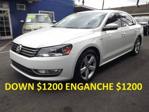 2015 Volkswagen Passat for sale at PACIFICO AUTO SALES in Santa Ana CA