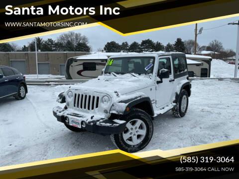 2016 Jeep Wrangler for sale at Santa Motors Inc in Rochester NY