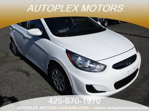 2014 Hyundai Accent for sale at Autoplex Motors in Lynnwood WA