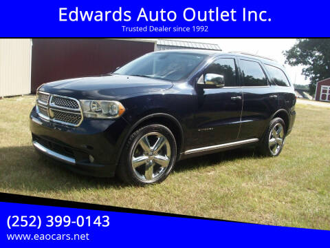2011 Dodge Durango for sale at Edwards Auto Outlet Inc. in Wilson NC
