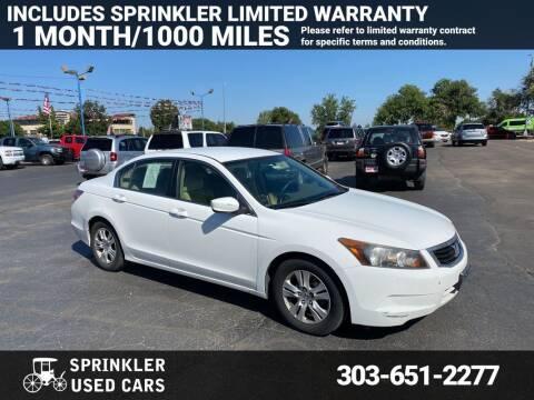 2008 Honda Accord for sale at Sprinkler Used Cars in Longmont CO