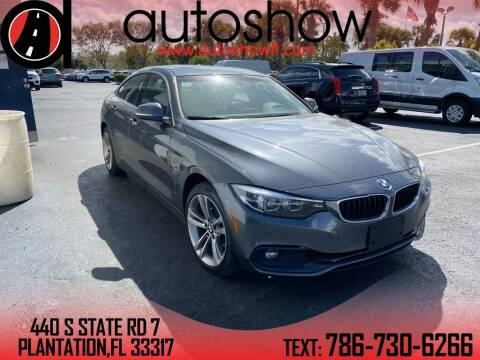 2018 BMW 4 Series for sale at AUTOSHOW SALES & SERVICE in Plantation FL
