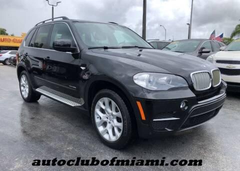 2013 BMW X5 for sale at AUTO CLUB OF MIAMI in Miami FL