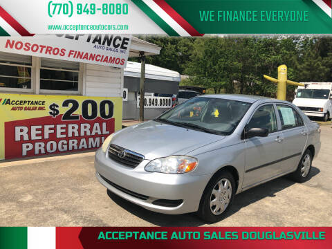2005 Toyota Corolla for sale at Acceptance Auto Sales Douglasville in Douglasville GA